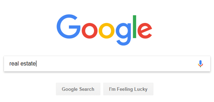 Google search for real estate