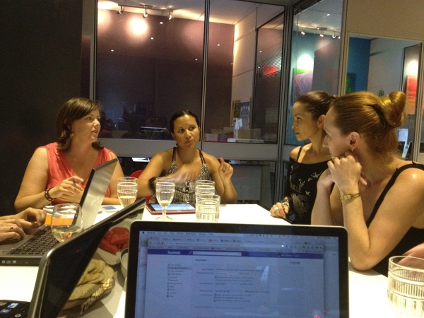 Symone Cope, Lee Baston, Dina Otley, and Lisa Vidovich at our WordPress workshop
