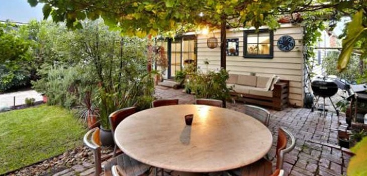 Kurt Opray's beautiful outdoor area
