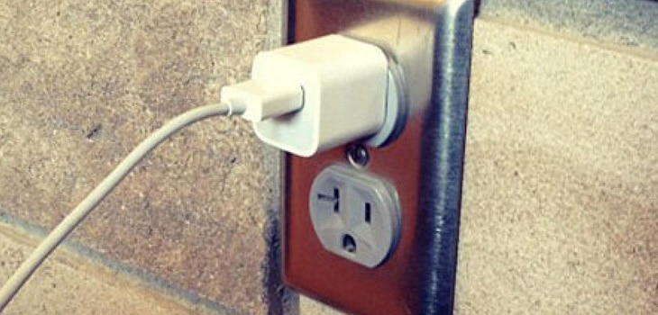 Photo of a power plug