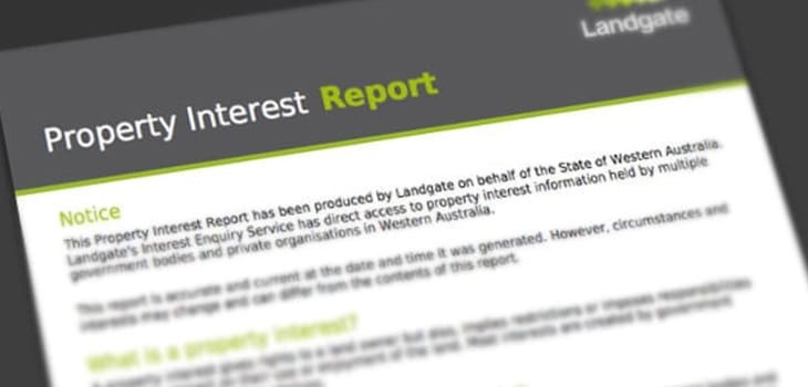 Property Interest Report