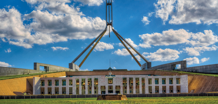Photo of Parliament House, Canberra