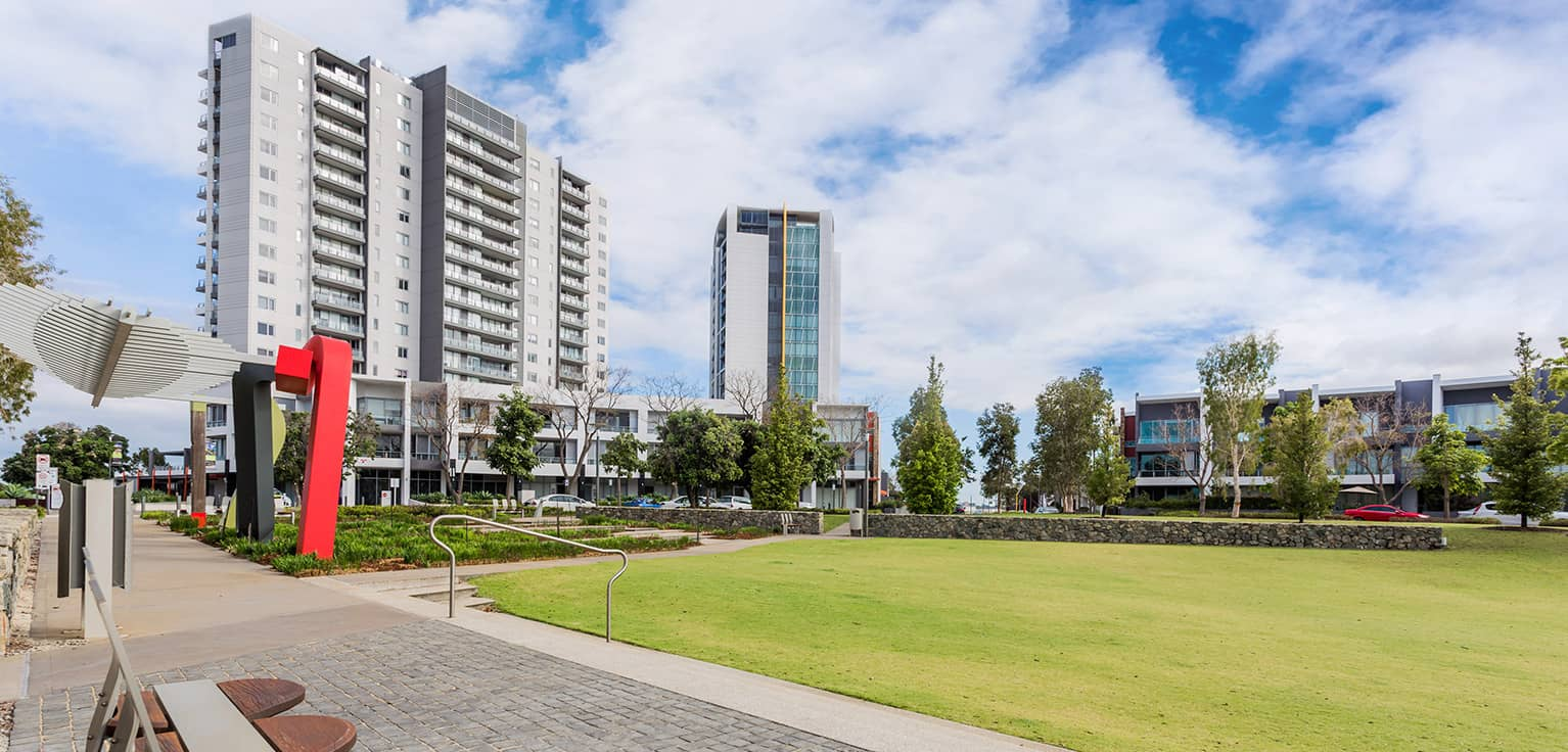 A strata development in Burswood, Western Australia